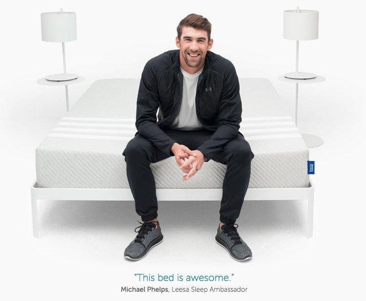 Lessa Mattress Reviews - Michael Phelps